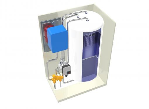WALL MOUNTED ELECTRIC COMBI BOILER WITH 50 LITRE INBUILT CYLINDER THREE PHASE 18 kW / 24 kW 003